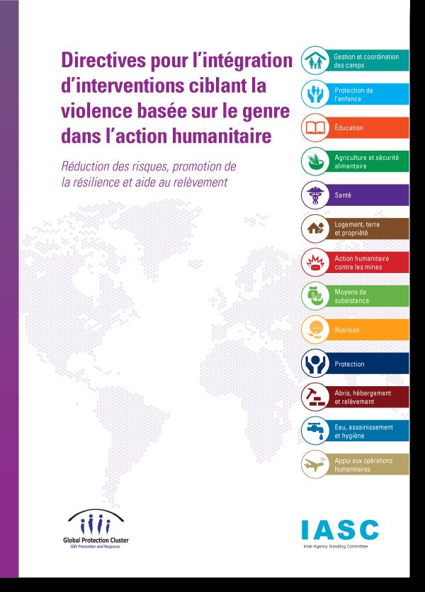 Directives pour l'intégration d'interventions ciblant la violence basée sur le genre dans l'action humanitaire