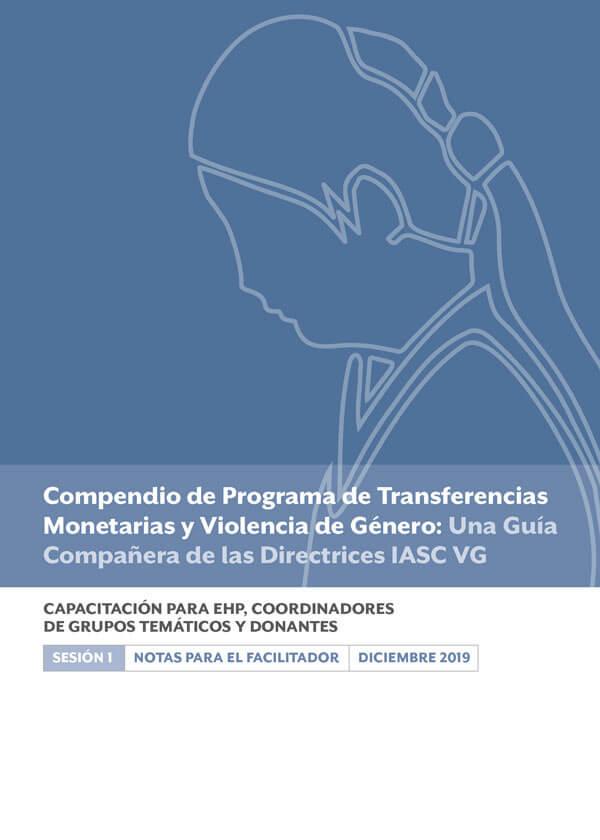 Capacitación para EHP, Coordinadores de Grupos Temáticos y Donantes